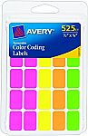 Avery Removable Color Coding Labels,Pack of 525 (6721) $0.98 and more
