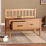Boston Loft Furnishings Benches sale at Lowes: Delilah Glazed Pine/Rich Walnut Indoor Storage Bench $109 and more