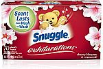 70-Ct Snuggle Exhilarations Fabric Softener Dryer Sheets $2.23