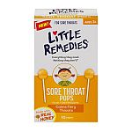 10 Ct Little Remedies Sore Throat Pops $3.31