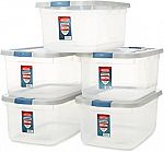 5-Pack Rubbermaid Roughneck Clear 50 qt. Storage Container, $32.89 (org $61.99)