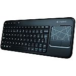 Logitech Wireless Touch Keyboard K400 with Built-In Multi-Touch Touchpad, Black $20