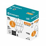 3-pk EcoSmart 60W Equivalent Soft White B11 Dimmable LED Light Bulb $5