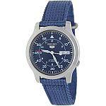 Seiko Men's SNK807 Blue Canvas Band Watch $41