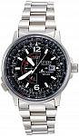 Citizen Men's BJ7000-52E Nighthawk Stainless Steel Eco-Drive Watch $156