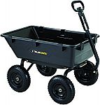 Gorilla Carts GOR6PS Heavy-Duty Poly Yard Dump Cart with 2-In-1 Convertible Handle $99.46