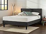 Zinus Upholstered Diamond Stitched Platform Bed w/ Wooden Slats KING $143.64