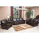 Maverick Top-Grain Leather Sofa, Loveseat and Armchair Set $1999