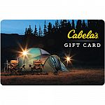 $100 Cabela's Gift Card $80 and more