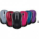 Logitech M325, M310 Wireless Optical Mouse, Assorted Colors $9.49