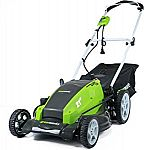 GreenWorks 25112 13 Amp 21-Inch Corded Lawn Mower $103.59