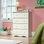 Sauder Pogo 4 Drawer Chest In Soft White with Four Drawers $80.15 (orig. 195)
