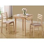 Coaster 3-Piece Breakfast Table Set, Natural $75.80 w/pickup discount
