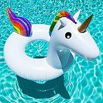 Giant 5ft Inflatable Rainbow Unicorn Pool Ring Float $10