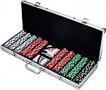 Trademark Poker 500 Dice Style 11.5-Gram Poker Chip Set $23.42