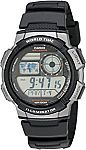 Casio Men's AE1000W-1B Digital Sports Watch $9