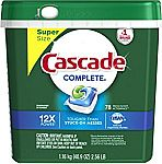 78-Count Cascade Complete ActionPacs Dishwasher Detergent, Fresh Scent $12