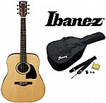 Ibanez IJD100S Jampack Dreadnought Solid Top Acoustic Guitar Package $119