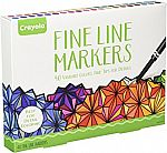2× Crayola Adult Coloring, 40Ct Fine Line Markers $11.30 and more deals