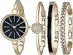 Anne Klein Women's AK/1470 Bangle Watch and Bracelet Set $69.05 (Org $150) & More