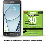 Samsung Galaxy On5 4G Prepaid Smartphone (Simple Mobile) + $40 Airtime $30