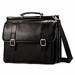 Samsonite Leather Dowel Flapover Business Case $50