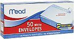 50 Mead #10 Envelopes, Press-It Seal-It, White $1.59