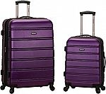 "Rockland Luggage 20"" and 28"" 2-Pc Expandable Spinner Set $66"