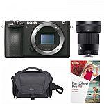 Sony a6500 Mirrorless Camera Body + Sigma 30mm f/1.4 DC DN Lens Kit $1399
