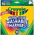 10-Ct. Crayola Ultra-Clean Markers $3