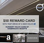 Volvo - Test Drive Any Car - Get $50 Amazon, Nordstrom or Visa Gift Card (YMMV)