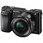 Sony Alpha a6000 Mirrorless Digital Camera w/ 16-50mm Lens $479