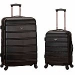"Rockland Luggage 20"" and 28"" 2-Pc Expandable Spinner Set $53"