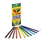 Crayola Long-Barrel Colored Woodcase Pencils, 12-Count $0.97