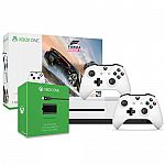 Xbox One S 1TB Forza Horizon 3 Bundle  + Xbox Controller + Play and Charge Kit $270