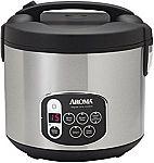 Aroma Housewares 10-Cup Digital Rice Cooker & Food Steamer $16