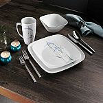 Corelle Shadow Iris 16-pc. Dinnerware Set 2 for $48.99 ($24.49/Set)