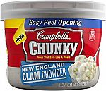 Campbell's Chunky Soup, New England Clam Chowder, 15oz (Pack of 8) $8.37