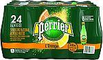 24-Pack PERRIER L'Orange Flavored Sparkling Mineral Water (Lemon Orange Flavor) $9.80