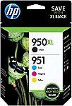 HP 950XL/951 Black/Color Original Ink Cartridges 2-Count for $163