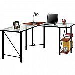 Altra Furniture Aden Corner Glass Computer Desk $79.99 (Save $70)
