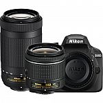 Nikon Refurbished D3400 DSLR Camera + 18-55mm VR & 70-300mm Lenses $400