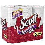 6-Roll Scott Choose-a-Sheet Paper Towels $3