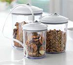 3-Piece FoodSaver Round Vacuum Canister Set $11 (Orig. $22)