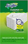 64-Count Swiffer Sweeper Dry Sweeping Pad Refills $7.39 (Prime Only)