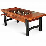 EastPoint Sports Coffee Table Soccer Game, Dark Wood $120 (Save $50)