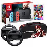 Nintendo Switch Mario Kart 8 Bundle with Deluxe Travel Case $400