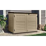 Suncast Toter Trash Can Shed, Sand $200