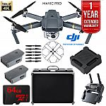 DJI Mavic Pro Extended Flight Kit w/ Extra Battery, Charging Hub, Case, 64GB Card + $50 BuyDig Gift Card - $1019
