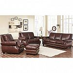 Palisades Top-Grain Semi-Aniline Leather 4-Piece Set  by Abbyson Living $2,999